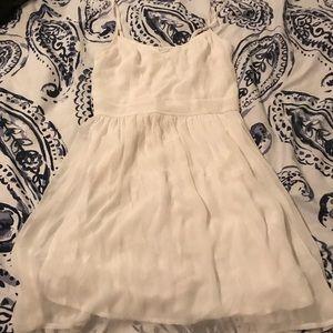Abercrombie white spaghetti strap Dress